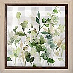 Bee & Willow™ Home Flowers 22.38-Inch Square Paper Framed Print in Green