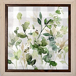 Bee & Willow™ Flowers 22.38-Inch Square Paper Framed Print in Green