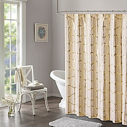 Intelligent Design Raina Metallic Shower Curtain
