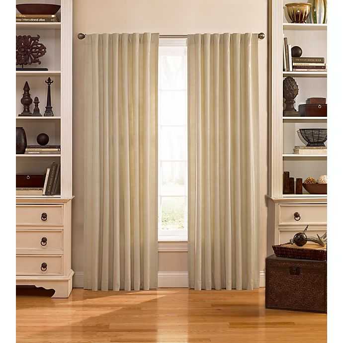 Alternate image 1 for Catania 63-Inch Velvet Back Tab Window Curtain Panel in Ivory