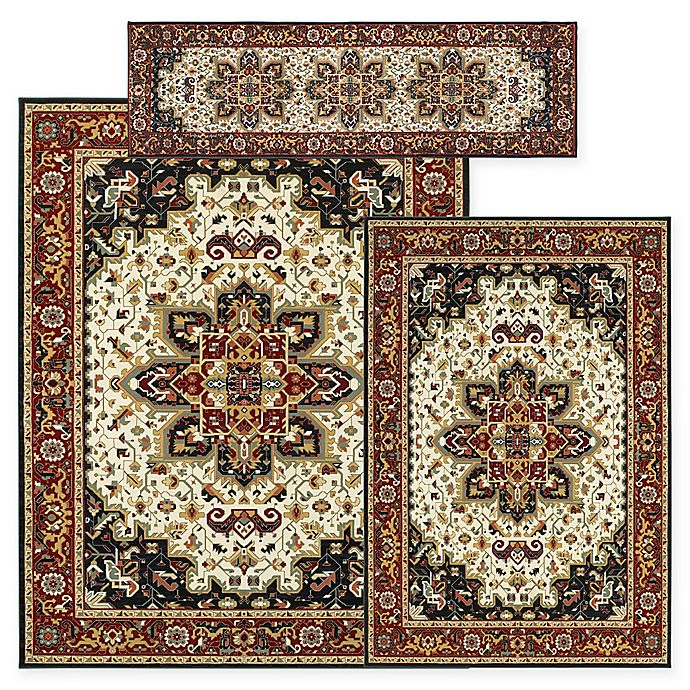 Alternate image 1 for Alexandria Heriz 3-Piece Woven Rug Set in Black