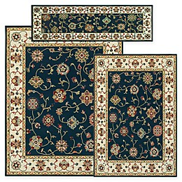 Alexandria Kashgal 3-Piece Woven Rug Set in Navy