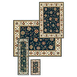 Alexandria Kashgal 4-Piece Woven Rug Set in Navy
