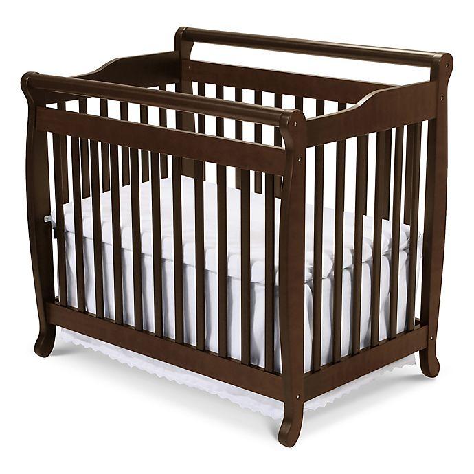 Alternate image 1 for DaVinci Emily 4-in-1 Convertible Mini Crib in Espresso