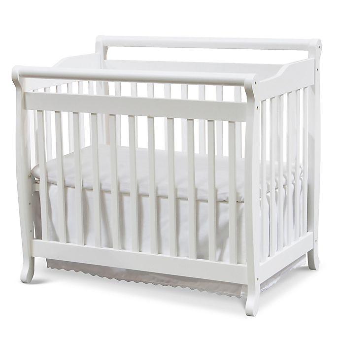 Alternate image 1 for DaVinci Emily 4-in-1 Convertible Mini Crib in White
