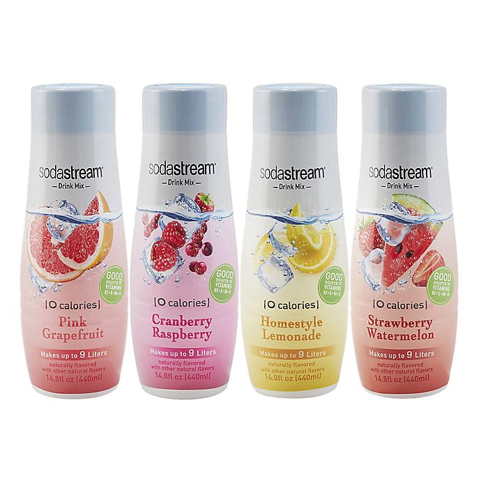 Alternate image 1 for sodastream® 4-Piece Sparkling Drink Mix Variety Set
