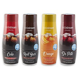 SodaStream® 4-Piece Classics Sparkling Drink Mix Variety Set