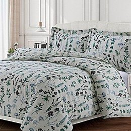 Tribeca Living Floral Flannel Duvet Cover Set