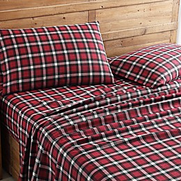 Morgan Home Geraldine Plaid Turkish Cotton Flannel Sheet Set
