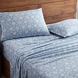 Morgan Home Geraldine Snowflake Turkish Cotton Flannel Sheet Set