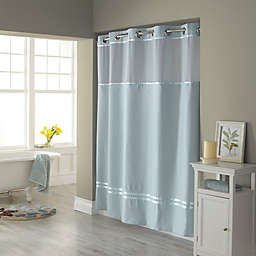 Hookless® Escape 72-Inch x 98-Inch Fabric Shower Curtain and Liner Set in Seafoam Blue