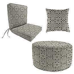 Print Boxed Edge Dining Chair Cushion in Sunbrella® Fabric