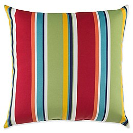 20-inch Striped Square Throw Pillow