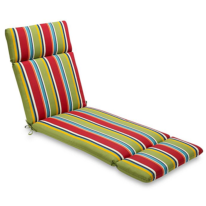 Groovy Stripe Chaise Indoor Outdoor Chair Cushion Bed Bath Beyond Ibusinesslaw Wood Chair Design Ideas Ibusinesslaworg