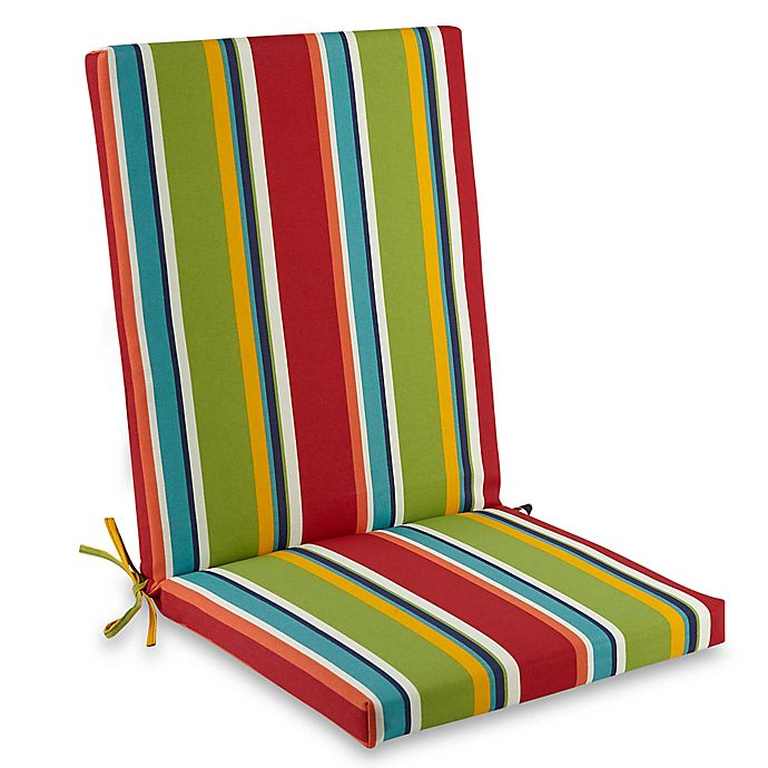 Prime Stripe Indoor Outdoor Folding Wicker Chair Cushion Bed Cjindustries Chair Design For Home Cjindustriesco