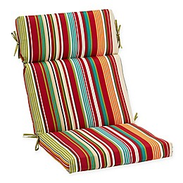 Stripe Outdoor High Back Chair Cushion