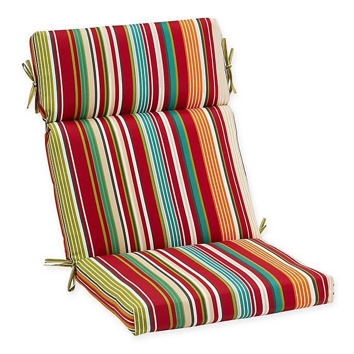 Stripe Outdoor High Back Chair Cushion Bed Bath Amp Beyond