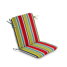 Stripe Mid Back Indoor/Outdoor Chair Cushion