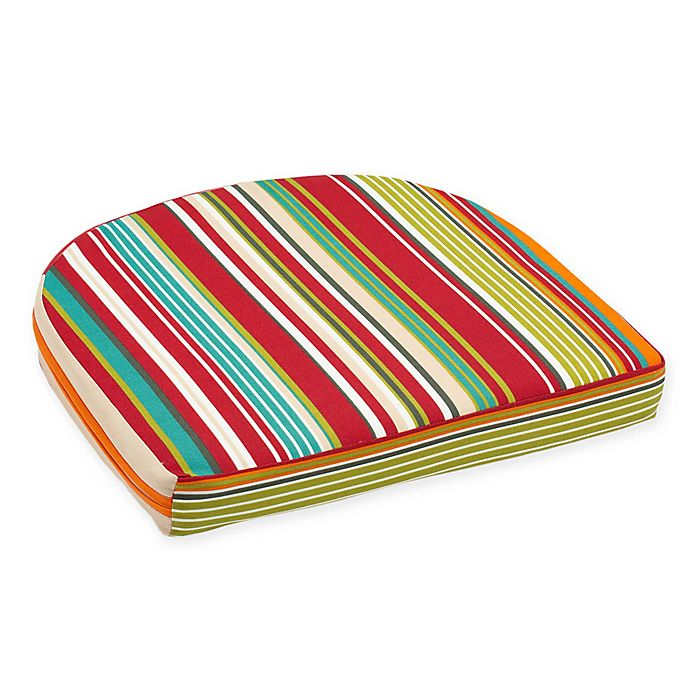 Alternate image 1 for Stripe Outdoor Wicker Seat Cushion