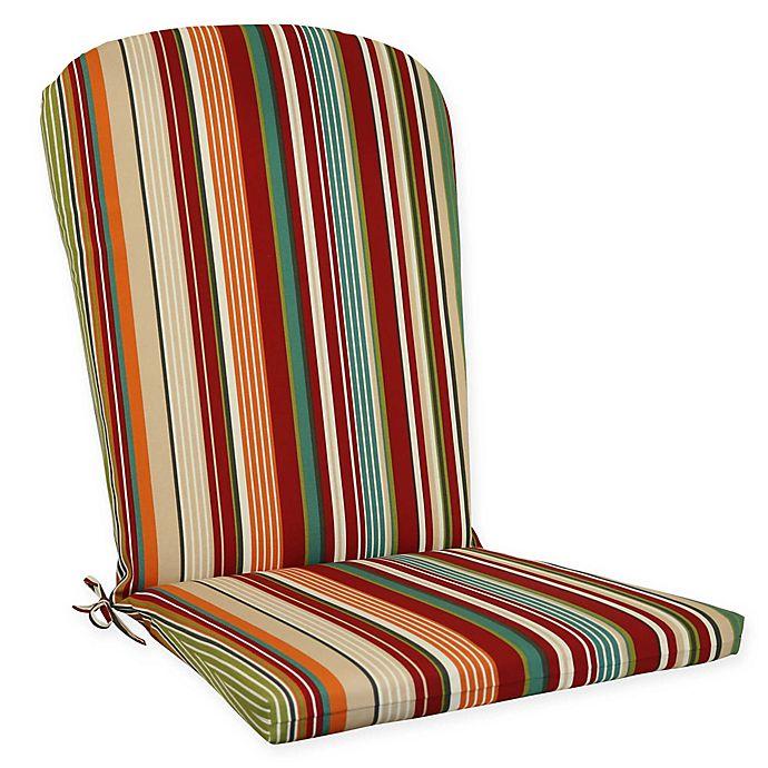 Alternate image 1 for Stripe Outdoor Aluminum Adirondack Chair Cushion