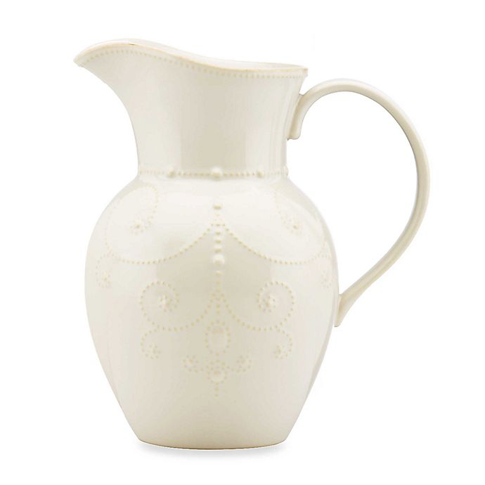 Alternate image 1 for Lenox® French Perle™ Large Pitcher in White