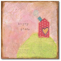 Courtside Market™ Happy Place 16-Inch x 1.5-Inch Framed Wrapped Canvas