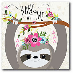 Courtside Market™ Happy Sloth I 16-Inch x 1.5-Inch Framed Wrapped Canvas