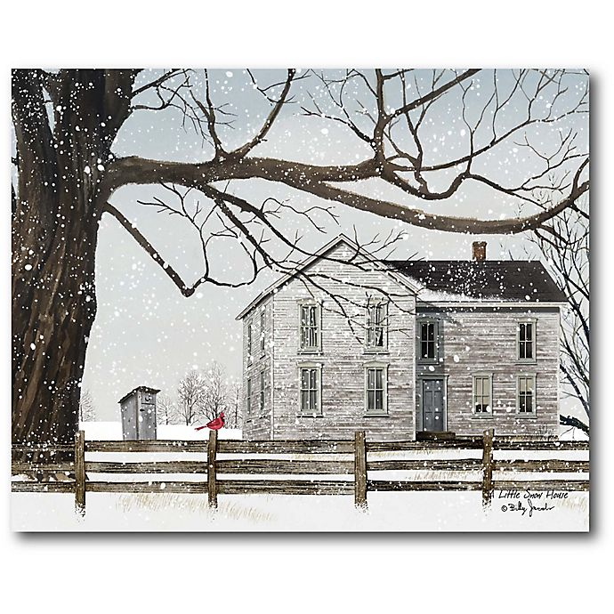 Courtside Market A Little Snow House 16 Inch X 1 5 Inch Framed Wrapped Canvas Bed Bath Beyond