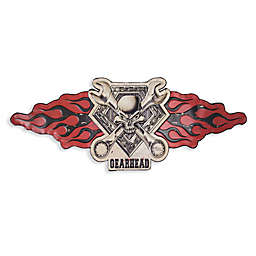 Gearhead 12.25-Inch x 21-Inch Metal Wall Art in Red