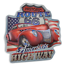 America's Highway Route 66 12-Inch x 60-Inch Metal Wall Art