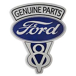 Vintage Genuine Ford Parts Emblem 18-Inch x 13.75-Inch Metal Wall Art