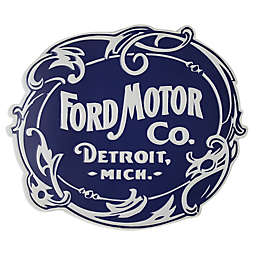Vintage Ford Logo Metal Wall Art