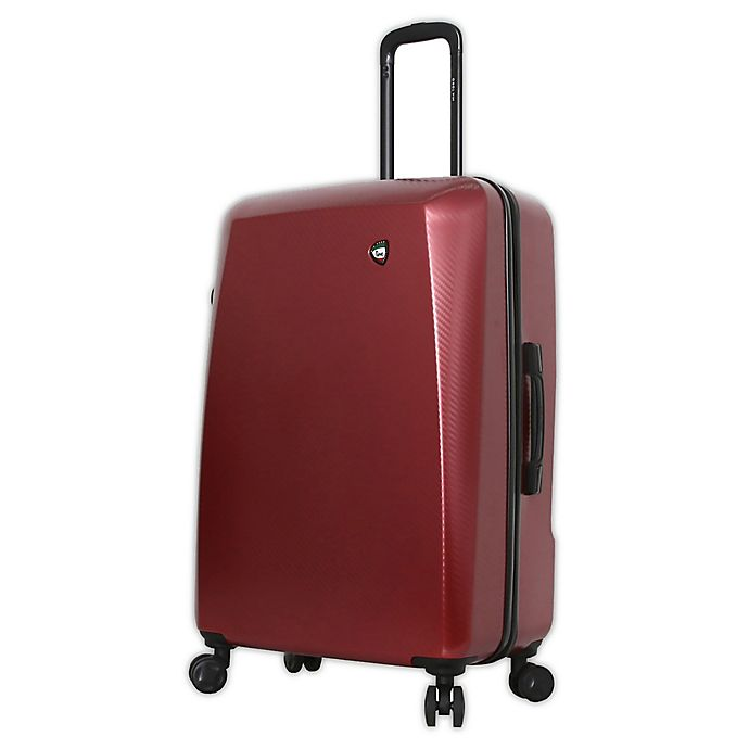 Alternate image 1 for Mia Toro ITALY Torino 28-Inch Hardside Spinner Checked Luggage in Burgundy