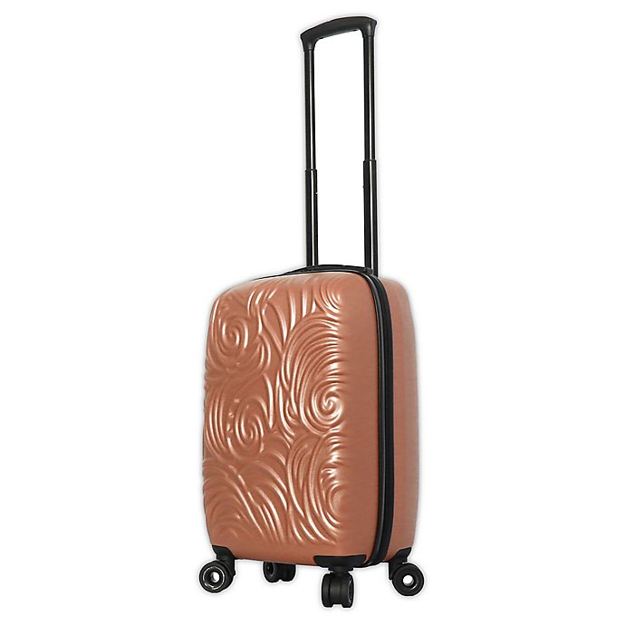 Alternate image 1 for Mia Toro ITALY Swirl 20-Inch Hardside Spinner Carry On Luggage in Champagne