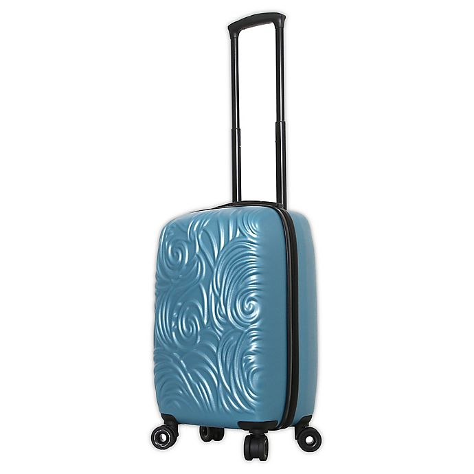 Alternate image 1 for Mia Toro ITALY Swirl 20-Inch Hardside Spinner Carry On Luggage in Blue