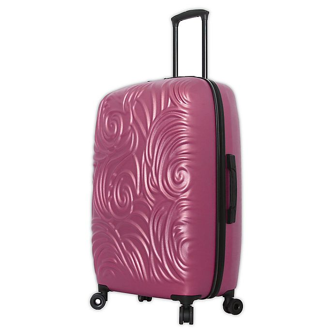 Alternate image 1 for Mia Toro ITALY Swirl 28-Inch Hardside Spinner Checked Luggage in Rose