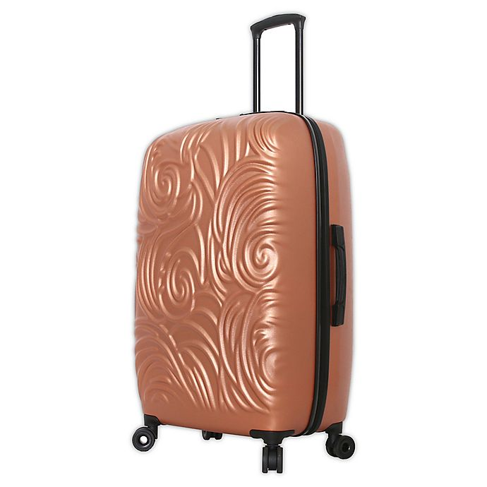 Alternate image 1 for Mia Toro ITALY Swirl 28-Inch Hardside Spinner Checked Luggage in Champagne