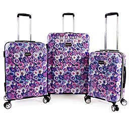 Bebe Gia 3-Piece Spinner Luggage Set in Purple