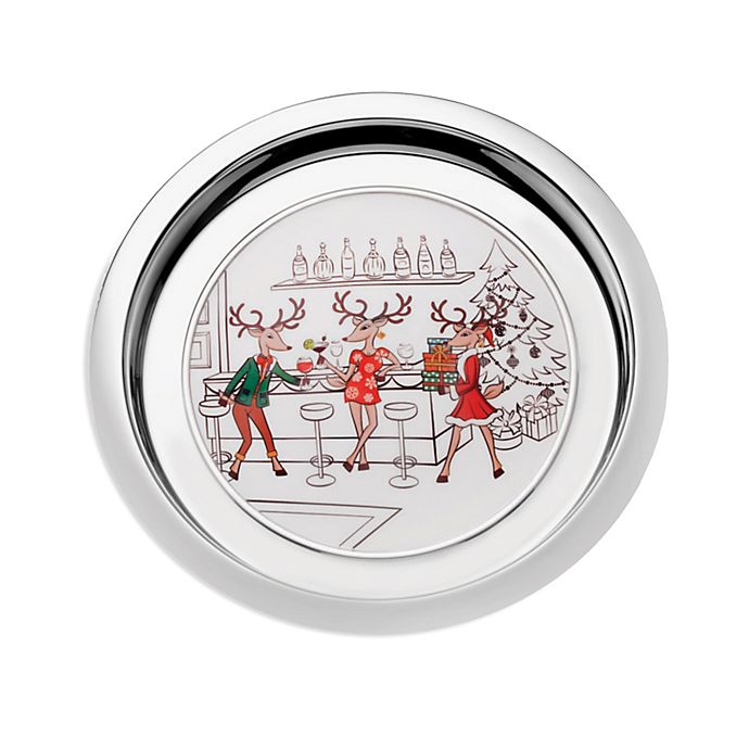 Alternate image 1 for Mikasa® Reindeer 14-Inch Round Tray