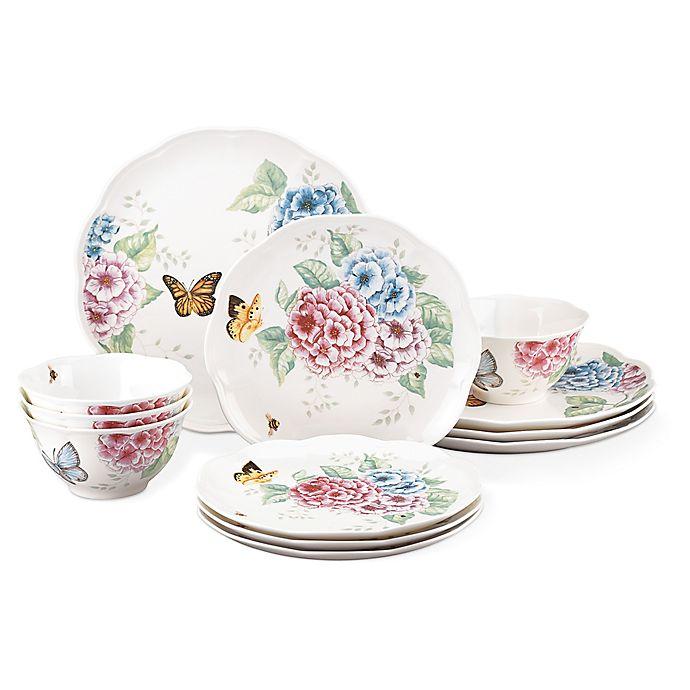 Alternate image 1 for Lenox® Butterfly Meadow Hydrangea® 12-Piece Dinnerware Set
