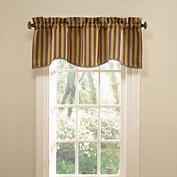 Florentine Stripe Valance in Chocolate