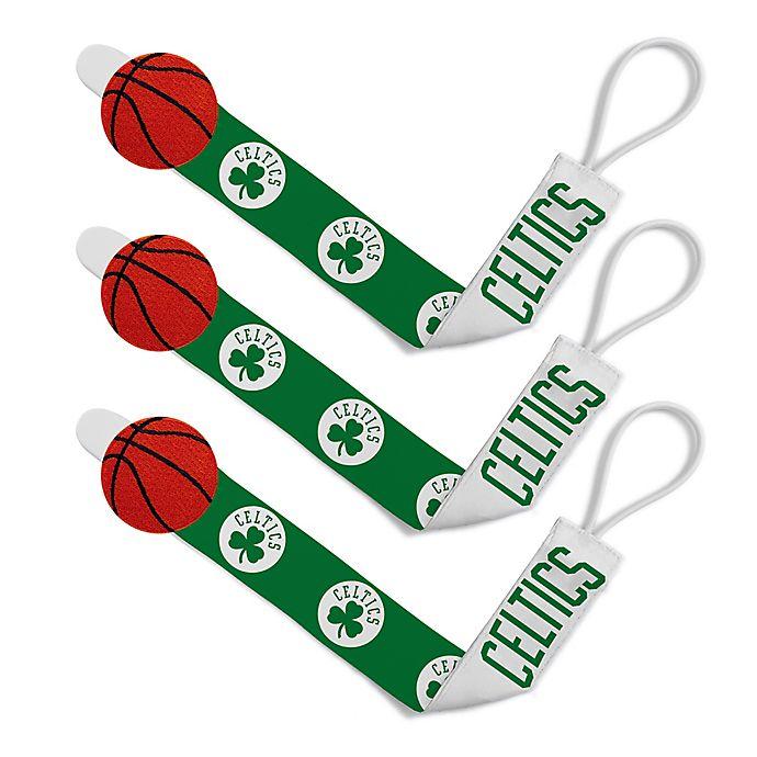 a46f56726 Baby Fanatic NBA Boston Celtics 3-Pack Pacifier Clips