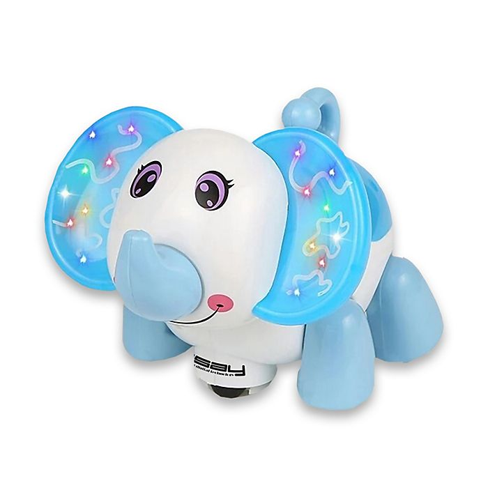 Alternate image 1 for LINSAY® Baby Elephant Smart Toy with LED Lights in Blue
