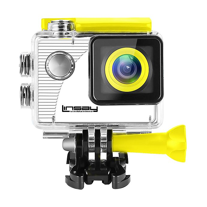 Alternate image 1 for LINSAY® Funny Kids Action Camera in Yellow