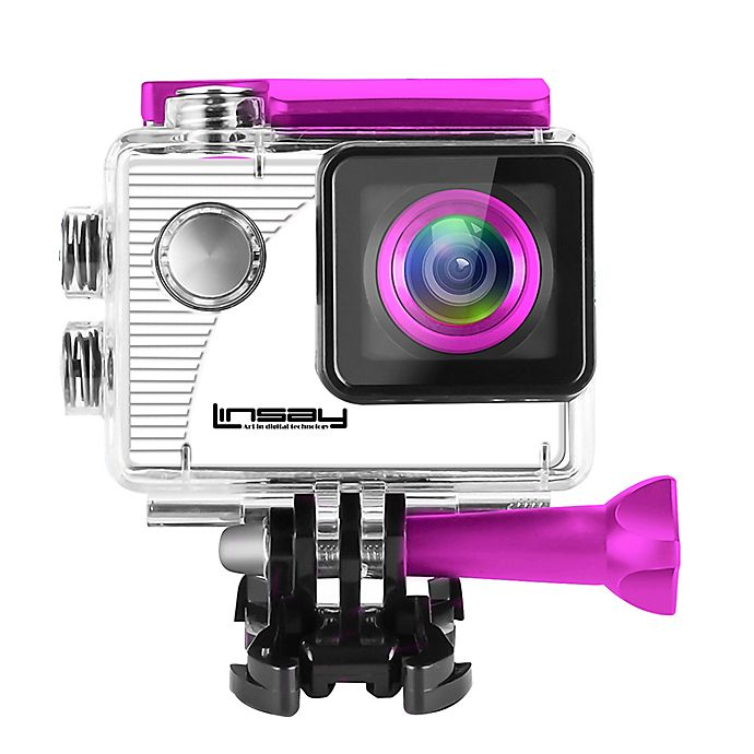 Alternate image 1 for LINSAY® Funny Kids Action Camera in Pink