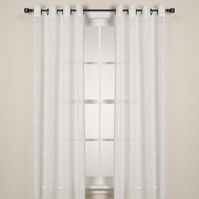 Alternate image 1 for Alton Solid Grommet 63-Inch Window Curtain Panel in White