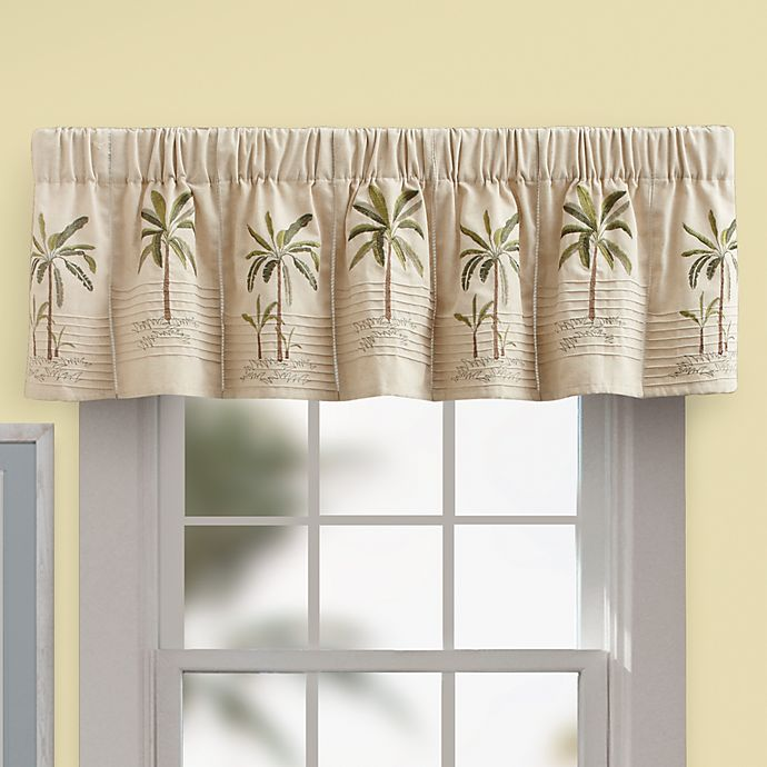 Palm Tree Valance In Ivory Bed Bath Amp Beyond