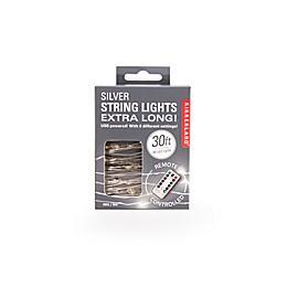 Kikkerland Design 90-Light String Lights in Silver