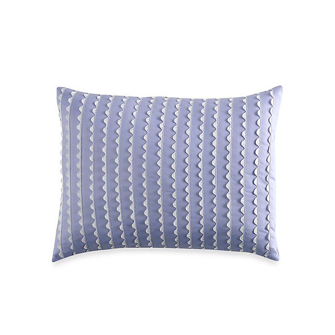 Laura Ashley Arietta Periwinkle Oblong Throw Pillow