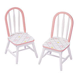 Fantasy Fields Swan Lake Chairs in White/Pink (Set of 2)